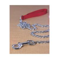 Hamilton Pet Company steel chain lead with nylon handle - heavy 4ft, 4 ea