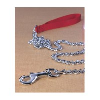 Hamilton Pet Company steel chain lead with nylon handle - extra heavy 4ft, 4 ea