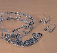Hamilton Pet Company chain prong training collar chrome hamilton strlng - 3.8mm/large, 4 ea