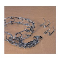 Hamilton Pet Company chain prong training collar chrome hamilton strlng - 3.8mm/large, 4 ea