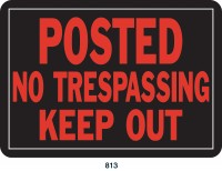 Hy-Ko Products Co P sign posted no trespas 10x14 12 - 10 x 14 inch, 144 ea