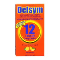 Delsym 12 hour cough relief supplement, Orange - 3 oz