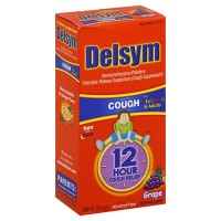 Delsym adult liquid cough cold nighttime, mixed berry - 6 oz