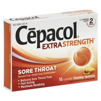 Cepacol sore throat maximum strength numbing lozenges with honey lemon, 16 ea