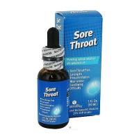 NatraBio homeopathic sore throat liquid - 1 oz