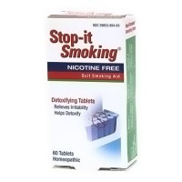 NatraBio stop-it smoking detoxifying tablets - 60 ea