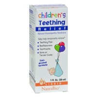 NatraBio childrens teething relief drops - 1 oz