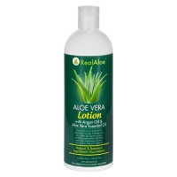 Realaloe aloevera lotion with argan oil and aloe vera essential oil - 16 oz