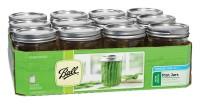 Jarden Home Brands ball wide mouth mason jars - 16 ounce, 12 ea