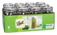 Jarden Home Brands ball wide mouth mason jars - 32 ounce, 12 ea