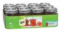 Jarden Home Brands ball regular mouth mason jars - 8 ounce, 12 ea