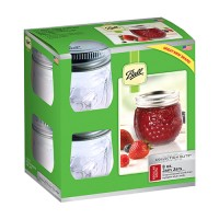Jarden Home Brands ball designer series jam jar - 8 oz, 4 ea
