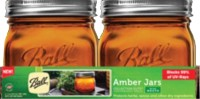 Jarden Home Brands ball elite series wide mouth amber jar - pint, 4 ea