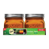 Jarden Home Brands ball elite series wide mouth amber jar - pint, 4 ea