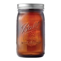 Jarden Home Brands ball elite series wide mouth amber jar - quart, 4 ea