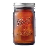 Jarden Home Brands ball elite series wide mouth amber jar - quart, 4 ea