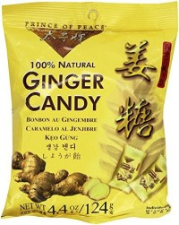 Prince of Peace Ginger Candy Chews, 100% Natural - 4.4 oz