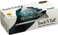 Ansell Edmont Industrial touch n tuff disposable nitrile gloves - medium/100, 10 ea