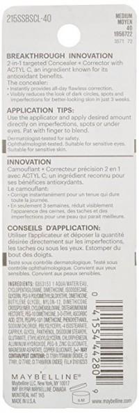 Maybelline superstay better skin concealer, medium - 2 ea