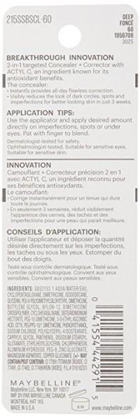 Maybelline superstay better skin concealer, deep - 2 ea