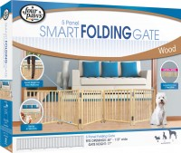 Four Paws Products Ltd free standing folding 5 panel gate - 48-110 in, 3 ea
