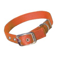 Hamilton Pet Company double thick nylon dog collar - 1x20 in, 6 ea