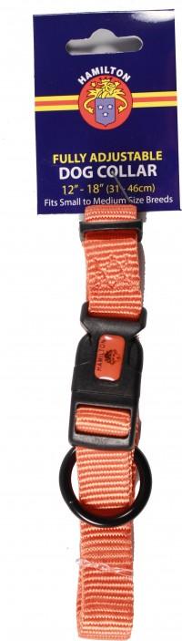 Hamilton Pet Company adjustable dog collar - 5/8 x 12-18 in, 6 ea