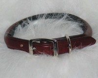 Hamilton Leather rolled leather collar - 3/4 x 20 in, 6 ea