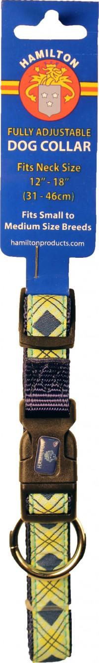 Hamilton Pet Company ribbon overlay 5/8x12-18 adj collar - small, 1 ea