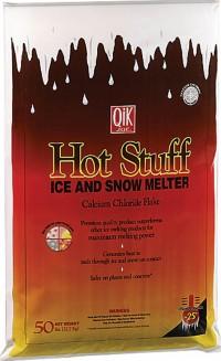 Milazzo Industries, Inc. qik joe hot stuff ice & snow melter flakes - 50 pound bag, 1 ea