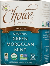 Choice Organic Teas, Green Tea, Organic, Green Moroccan Mint, 16 Tea Bags - 8 oz, 6 pack