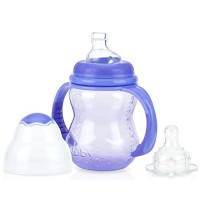 Nuby 3 stage wide neck no spill bottle with handles and non - 2 ea