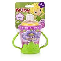 Nuby 3-d flower 2 handle no-spill super spout cup - 4 ea