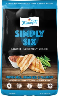 Triumph Pet Industries triumph simply six limited ingredient dog food - 3 lb, 6 ea