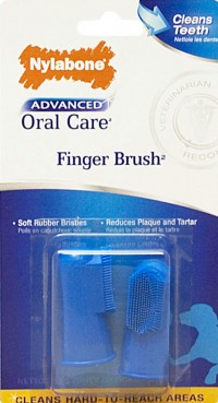 Tfh Publications/Nylabone advanced oral care finger brush - 2 count, 24 ea