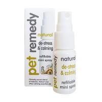Pet remedy natural de stress and claming refillable mini spray - 1 ea
