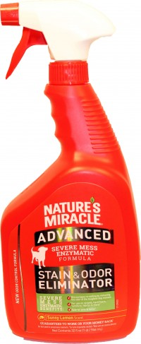 Nature'S Miracle nm advanced dog stain & odor remover - 32oz, 12 ea