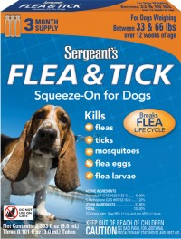 Sergeant'S Pet Products P sergeants flea & tick squeeze-on for dog - over 33 lb, 12 ea