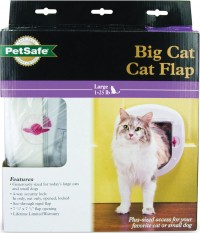 Petsafe - Electronics petsafe big cat 4-way locking cat door - large, 4 ea