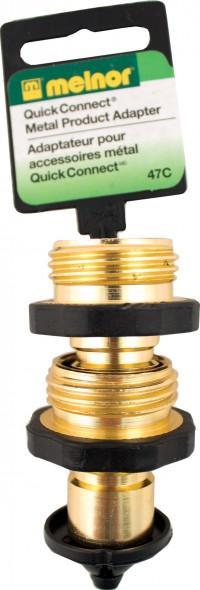 Melnor Inc P brass male quick connector - 5 inch, 10 ea