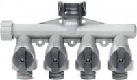 Fiskars Brands - Watering full flow 4 way shut off valve w/swivel connect - 6 ea