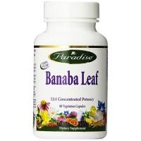 Paradise herbs banaba leaf  60 vegetarian capsules   -  60 ea