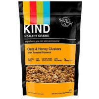 KIND Healthy Grain oats honey culester with cocunt tosted - 11 oz, 6 pack