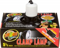 Zoo Med Laboratories Inc deluxe porcelain clamp lamp - 8.5 inch, 18 ea