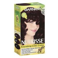 Garnier Nutrisse nourishing color creme, triple fruit oil, soft mahogany dark brown 415, kit