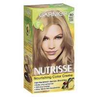 Garnier Nutrisse Permanent Creme Haircolor #80 Medium Natural Blonde, 1 ea