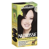 Garnier Nutrisse Permanent Creme Haircolor #10 Black, 1 ea