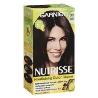 Garnier Nutrisse Permanent Creme Haircolor #30 Soft Black, 1 ea