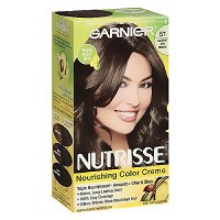Garnier Nutrisse permanent, nourishing color creme, #51, medium ash brown - 1 ea