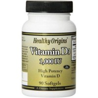 Healthy origins vitamin d3 1000 iu - 90 softgels